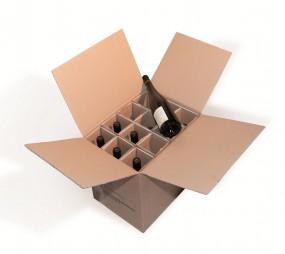 12er PTZ Weinverpackung Flaschenverpackung
