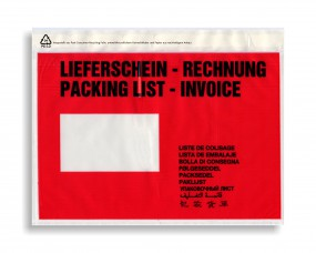 Dokumententaschen C5 Lieferschein-Rechnung, VE a. 1000 Stück