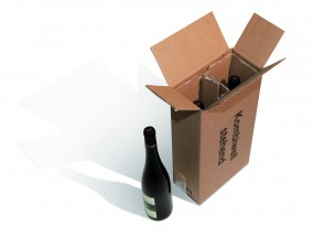2er PTZ Weinverpackung Flaschenverpackung