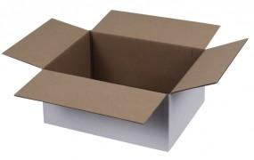 Kartons 300x215x140mm weiss, einwellig