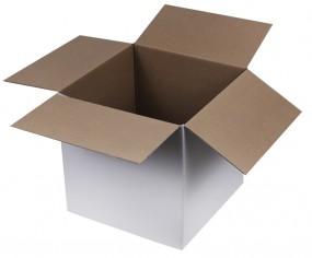 Weiße Kartons, 300x300x300mm, einwellig