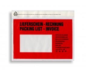 Dokumententaschen C6 Lieferschein - Rechnung, VE a. 1000 Stück
