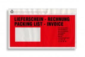 Dokumententaschen DIN lang, Lieferschein - Rechnung, VE a. 1000 Stück