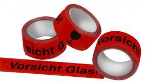 PP- Klebeband Vorsicht Glas