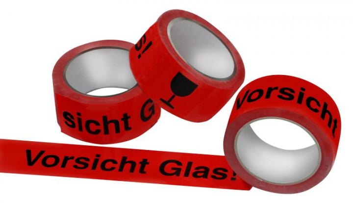 klebeband vorsicht glas 50mm x 66m mdf verpackungen gmbh. Black Bedroom Furniture Sets. Home Design Ideas