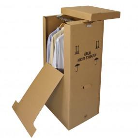 Kleiderbox mit Metallkleiderstange 595x510x1345 mm