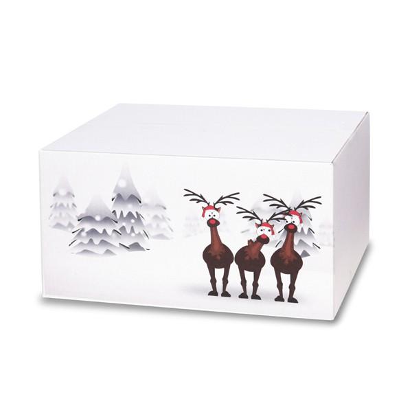 weihnachtskartons rentiere im schnee 400x300x200mm b 1 3. Black Bedroom Furniture Sets. Home Design Ideas