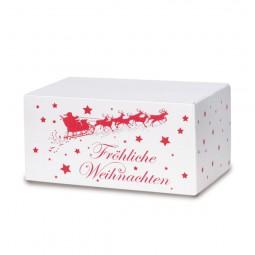 Weihnachtskartons Weihnachtsschlitten 300x215x140mm, weiß B 1.3