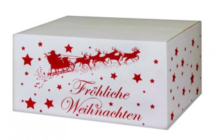 weihnachtskartons weihnachtsschlitten 400x300x200mm wei. Black Bedroom Furniture Sets. Home Design Ideas