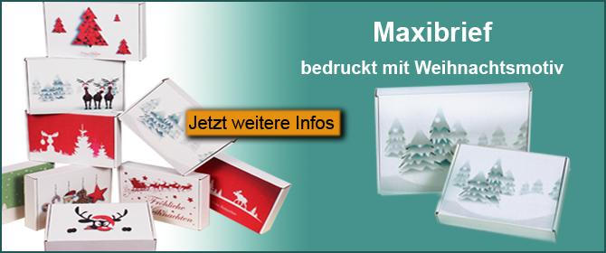Maxibrief mit Weihnachtsmotiv