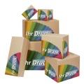Kartons mit Digitaldruck einwellig braun