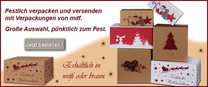 Weihnachtskartons