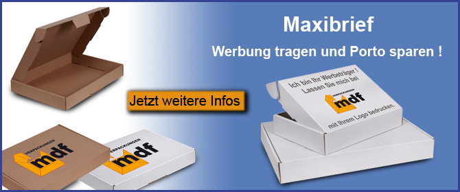 Maxibrief bedruckt